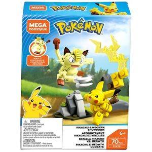 Mega Construx Pokemon Pikachu & Meowth Showdown